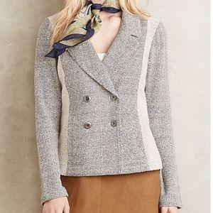 Anthro Saturday Sunday Milica Blazer Tweed
